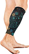 India Paisley Seamless Ornament Pattern Calf Compression Sleeve Breathable Leg Socks for Unisex Runner Travelers, Calf Guard for Running, Traveling and Outdoor Sports 1 Pair