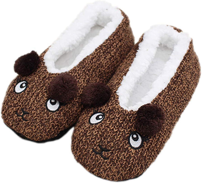 Nafanio Winter Wool Boots Socks Cute Cartoon Indoor shoes Woman Home Women Soft Plush Slippers