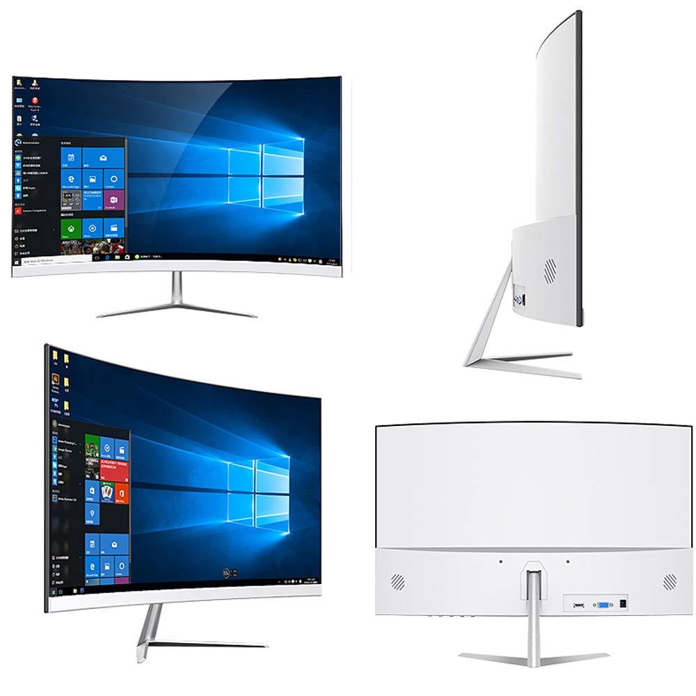 Pantalla curvada de 24 pulgadas-Pantalla de escritorio PS4 de alta definición HDMI Gaming LCD Pantalla de computadora Pantalla IPS, Tipo de interfaz HDMI + VGA, Resolución 1920X1080, 178 ° visible: Amazon.es: Hogar