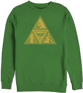 Nintendo Men's Legend of Zelda Triforce Silhouette Sweatshirt