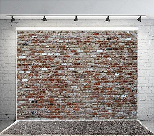 Laeacco 12x10ft Vintage Brick Wall Photography Backdrop Retro Style Rustic Brick Wall Background Newborn Baby Girls Adults Portraits Studio Birthday Party Wedding Graduation Home Decoration Wallpaper