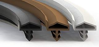 Premium deurafdichting zwart - rubberen afdichting voor deuren en ramen - universeel geschikt voor elke deur en raam - kam...