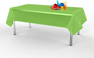 Lily + Oliver Lime Green (6 Pack) Party Tablecloth - Plastic Tablecloth - Rectangle Indoor/Outdoor Tablecloth - Plastic Table Covers 54