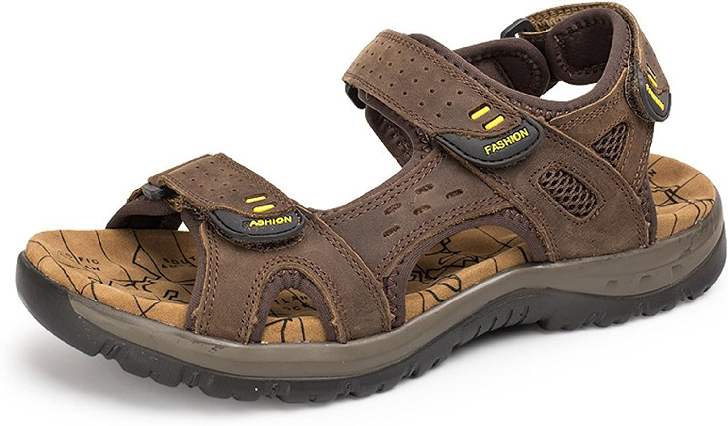 Baviue Womens Ankle Strap Leather Beach Sandals Hiking Sandles