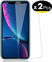 """NEW'C Lot de 2, Verre Trempé pour iPhone 11, iPhone XR (6.1""""), Film Protection écran - Anti Rayures - sans Bulles d'air -Ultra Résistant (0,33mm HD Ultra Transparent) Dureté 9H Glass"""