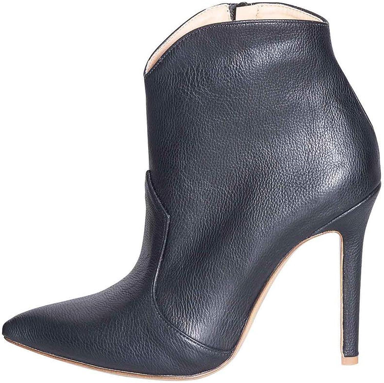 Winterstiefel 2019 aus echtem Leder schwarz schwarz schwarz Größe 40 Made in  hoher Qualität 10 cm Schuh Lindy STUDIO CREAZIONI LNS-16 OTTIMA QUALITÄT ELEGANT B07PG823QF 77a408