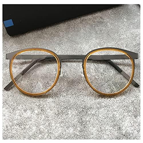 H.yna Gafas De Lectura Redondas, Bisagras De Resorte, Gafas De Lectura para Hombres, Antifatiga Gafas