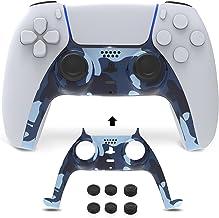 NexiGo Placa frontal com controle PS5 com pegas para polegar, acessórios de decoração de concha de substituição, faixa dec...