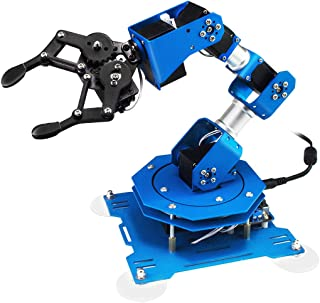 LewanSoul 6DOF Robotic Arm STEAM Robot Scratch Arduino Programming with Feedback of Servo Parameter, Wireless/Wired Mouse/Mobile Phone Controland Tutorial