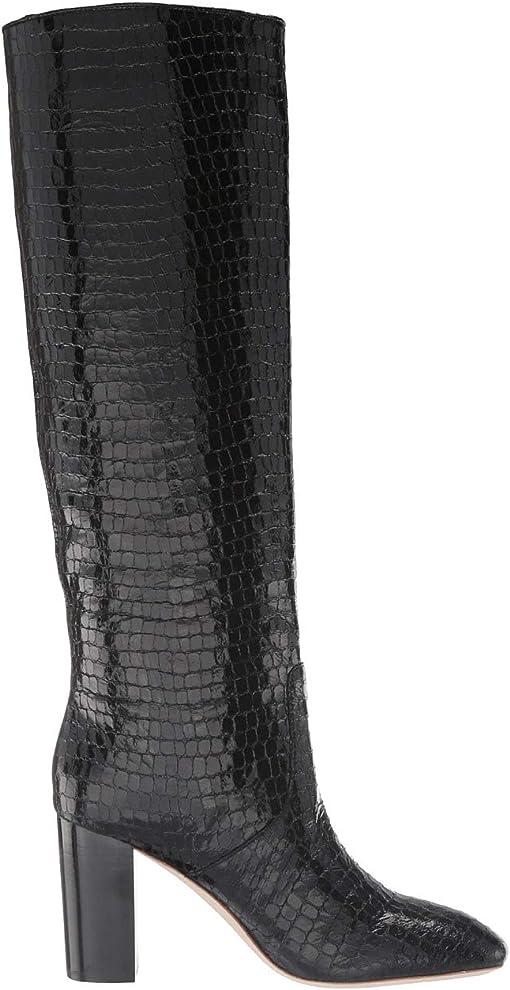 Black Shiny Embossed Croc