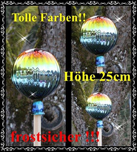 Gartenkugel (R2) Rosenkugel Gartenkugeln Rosenkugeln Glas 25 cm groß (auch mit Rosenkugelstab -Gartenstecker erhältlich)