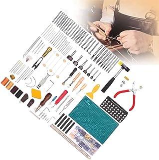 XDXDO 273 Pièces Cuir Projects Tools Kits D'outils, Fournitures en Cuir avec Boîte À Outils Et Kit De Rivets, Parfait pour...