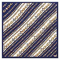 新しいツイルスカーフ70センチレディースプロの装飾小さなスカーフ印刷レトロスクエアスカーフ (Color : 3)