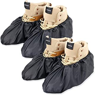 LINKEASE Reusable Boot & Shoe Covers Water Resistant Non Skid and Washable for Real Estate Contractors to Keep Floors Carp...