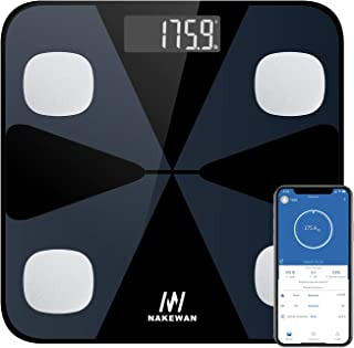 Body Fat Scale, Nakewan Smart BMI Scale Digital Bathroom...
