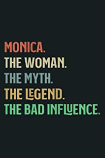 The Name Is Monica The Woman Myth Legend And Bad Influence: Notebook Planner - 6x9 inch Daily Planner Journal, To Do List ...