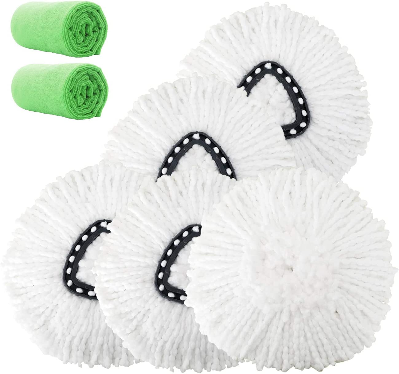 Max 86% OFF 4 Pack Super-cheap Mop Head Replacement Microfiber Repl Spin Refills