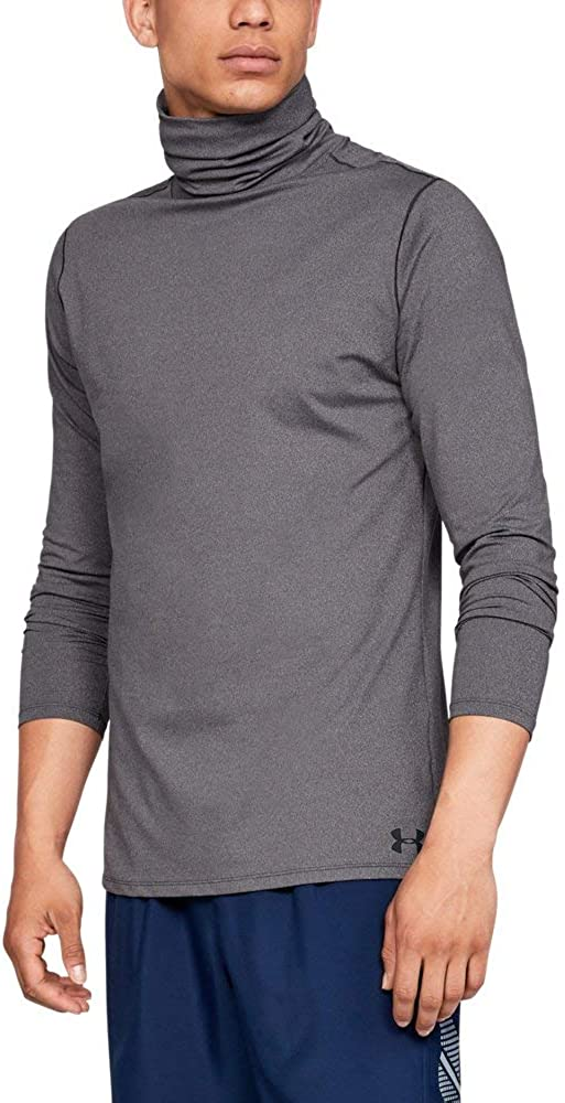 Under Armour Mens Mens Fitted ColdGear Funnel Neck Long Sleeve