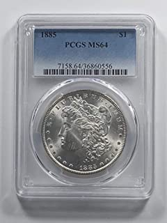 1885 P Morgan Silver Dollar $1 MS-64 PCGS