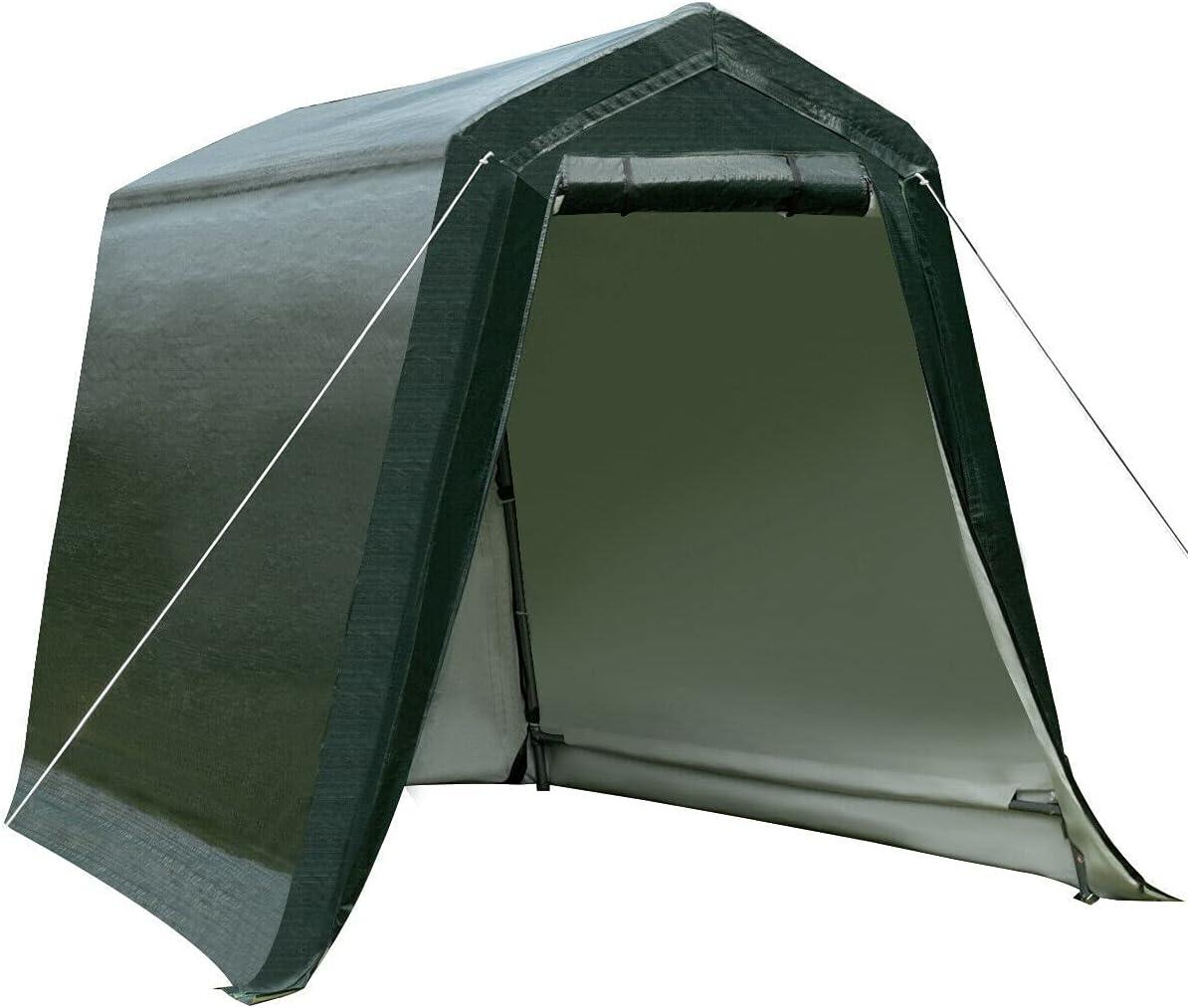HUIJK Genuine Albuquerque Mall Storage Sheds 6'x8' Patio Carport Tent Shelter She