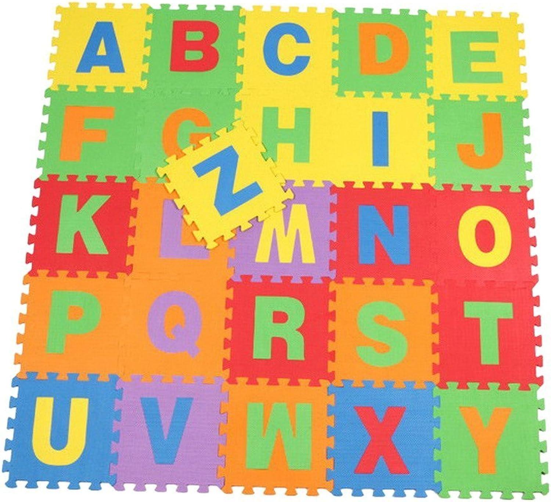 JTC 26 Stk. Babys Spielmatte Schaumstoffmatte Matte Puzzlematte Kinderteppich Majuskelbuchstabemuster