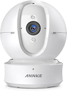 ANNKE Wifi IP Camera, Nova Orion 1080P HD Pan/Tilt Home Security Camera, Work with Alexa Echo Show/ Fire TV, Google Assistant, Cloud Service Available, White