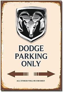 MUSTYDF Dodge Metallschilder Dodge Parts Service Nostalgie Garage Art Decor Schild