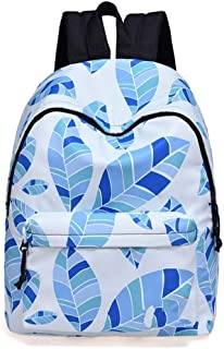 Backpack Unisex College Student Book Bag Travel Daypack for 14 Inch Laptop (Color : White)
