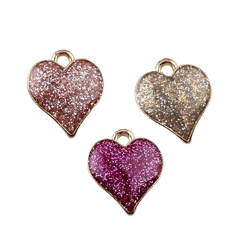 M326-E 9pcs New Cute Assorted Little Love Heart Bracelet Charms Pendants Wholesale