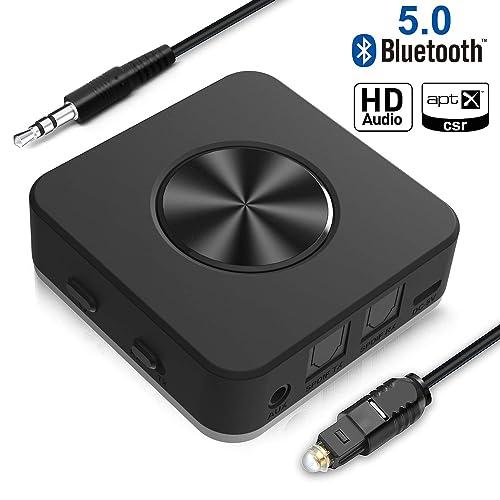 Transmisor y Receptor Bluetooth V5.0 Adaptador inalámbrico Bluetooth Yuanguo 2 en 1 con Puerto