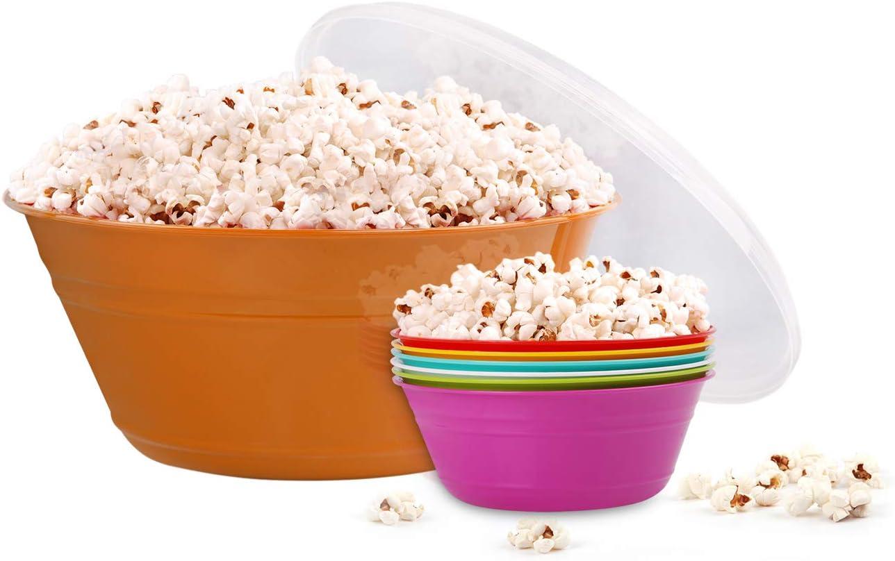 Mintra Max 60% OFF Home Super-cheap Snack Bowls Set Bowl Orange Popcorn