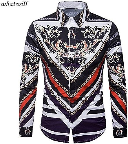MAYUAN520 Chemises Chemises Homme 3D 2018 Hip hop Chemise Homme Casual Shirt Camiseta de Mode Masculine imprimé Camisas Para Hombre Mens Clothing,c421,L