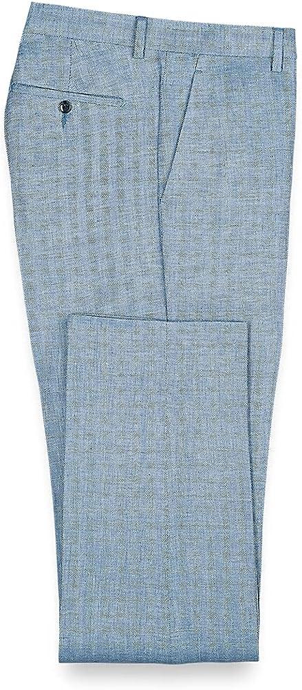 Paul Fredrick Men's Linen Flat Front Pants