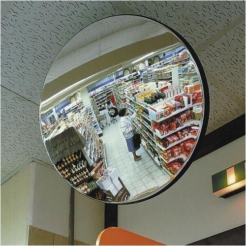 3089. Spiegel waarneming en controlespiegel detectief A, rond, incl. houder, wandarm afstand 20 cm grootte 80,00 cm, 6,0 kg