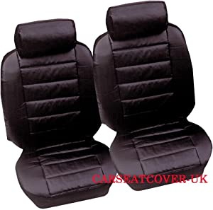 Carseatcover-UK XLLKLBPAIR416 Waterproof Seat Covers  Heavy Duty  Fronts  Black