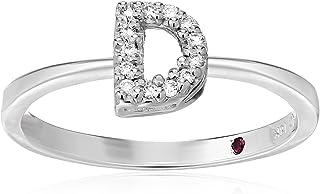 Roberto Coin Women's 001634AWLRXD Diamond Initial Ring, White, Size 7
