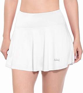 Baleaf Women's Tennis Skirt Lightweight Golf Tenni Skort Pockets Running Workout