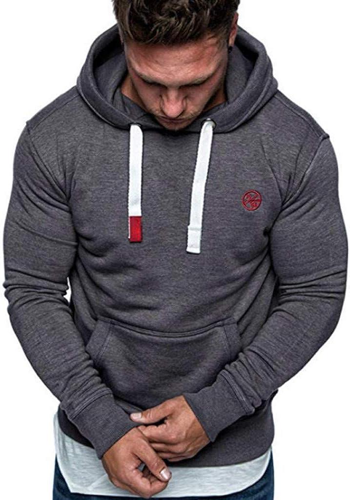 FONMA Men's Long Sleeve Autumn Winter Casual Sweatshirt Hoodies Top Blouse Tracksuits