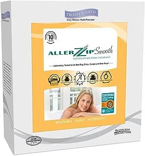 AllerZip Smooth Waterproof Bed Bug Proof Zippered Bedding Encasement, Full, (Fits 7 - 12 in. H)