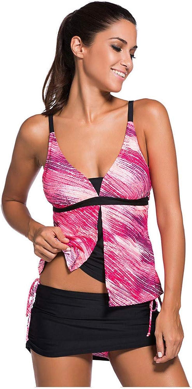 Hinyyee Badeanzüge Badeanzüge Badeanzüge für Frauen Low Cut Tankini mit Schnüren Low Waist Rockini Zweiteiliger Sexy Badeanzüge Sommer B07PCP1B4G  Die Farbe ist sehr auffällig 66e5c0