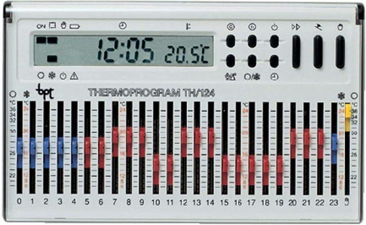 Cronotermostato elettronico giornaliero montaggio da parete bianco th/124.01 bb bpt came sp.a 69403510