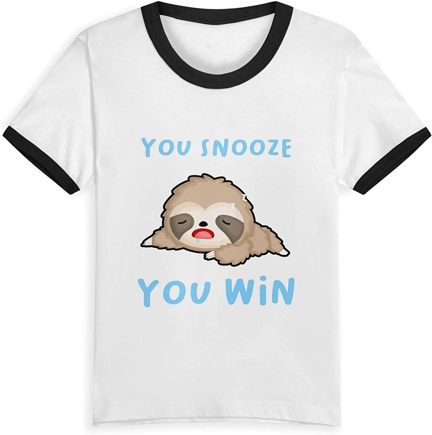 You Snooze You Win Sloth Spirit Animal T-Shirts Novelty for Kids Tees with Cool Designs
