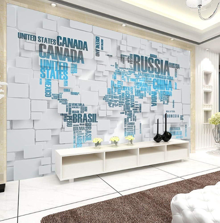 alta calidad y envío rápido Papel tapiz 3D estéreo mapa del mundo mundo mundo arte abstracto salón moderno fondo de TV pintura de parojo papel tapiz  estilo clásico