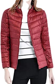 Macondoo Women's Reversible Warm Packable Lightweight Puffer Down Coat Jacket