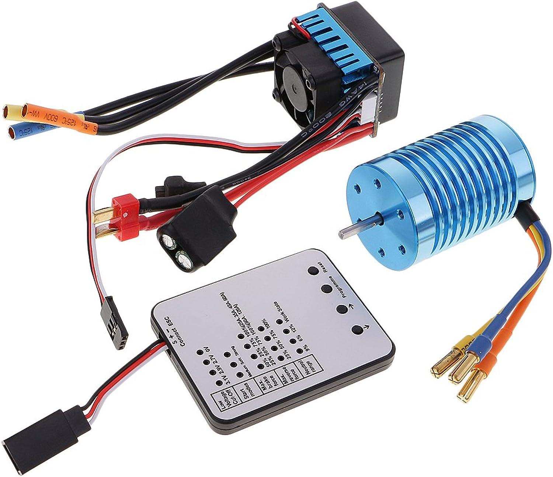 MagiDeal 3650 3930KV Brushless Motor + 45A ESC Speed Controller + LED Programmierkarte für 1 10 1 12 RC Auto B074HCS7N5 Ausgezeichnet      Outlet