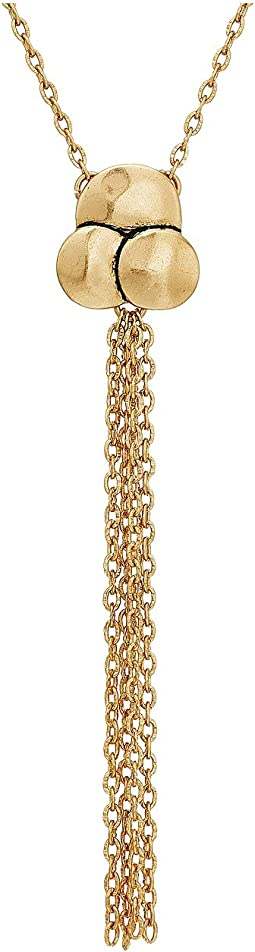 "The Sak Chain Tassel Pendant 18"" Necklace"