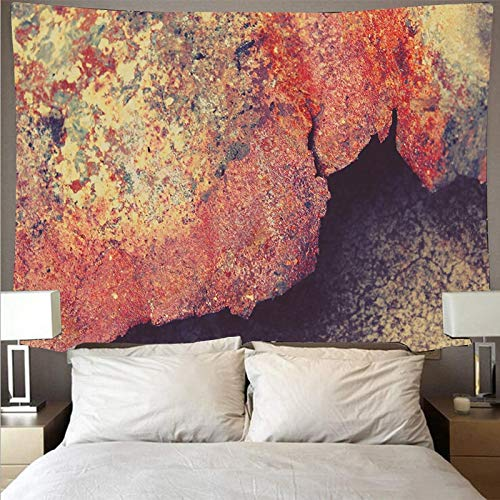 KHKJ Imagen de Metal Oxidado Que Cubre la Pared Gran Tapiz de Arte psicodélico Colgante de Pared Toalla de Playa Manta Fina A1 95x73cm