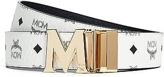 MCM Men's Visetos Printed Reversible Belt
