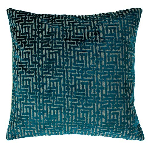 Paoletti Delphi Feather Filled Cushion, Teal, 45 x 45cm