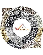 BEKATEQ BK-600EP Grigio Cielo Vloercoating met 1,5 kg bindmiddel van epoxyhars, steentapijt vloerbedekking, vloeibare kunststof, bindmiddel en lijm, voor binnen en buiten, 25 kg marmergrind, Grigio Cielo
